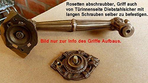 Graf von Gerlitzen Antik Eisen T/ür Griff T/ürgriff Rosetten Stossgriff T/ürbeschlag D21E