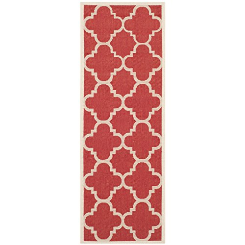 (Safavieh Courtyard Collection CY6243-248 Red Indoor/ Outdoor Runner (2'3