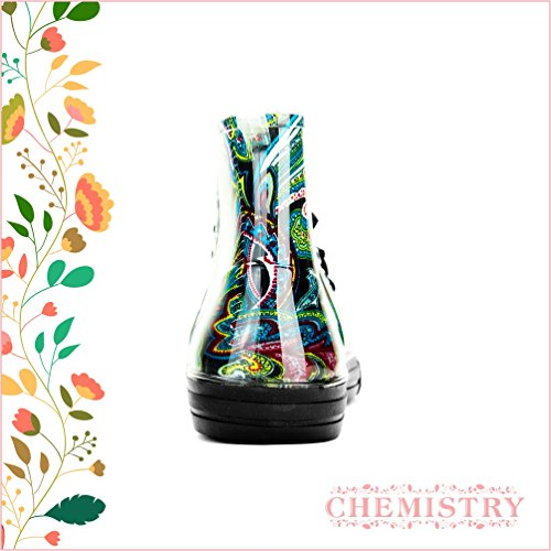 Rain Green Boots Women's Sneaker Flat Jelly Floral Chemistry Paisley Ankle qw4FnZxWR