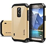 Samsung S5 Active Case, Evocel® Dual Layer Armor Protector Case For Samsung S5 Active (SM-G870) - Retail Packaging, Gold Medal