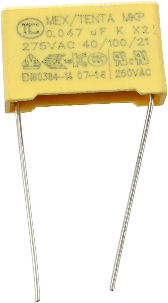 ACAMPTAR 10pcs 250V 47nF 0.047uF 10/% Polypropylene Film securite Condensateur