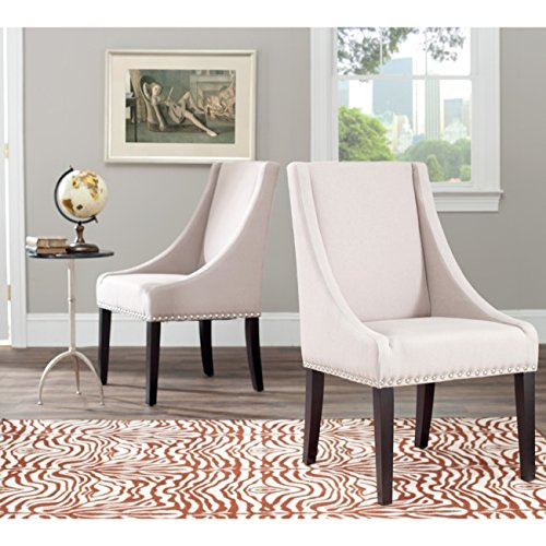 ection Austin Grey Linen Sloping Arm Chair, Set of 2 ()