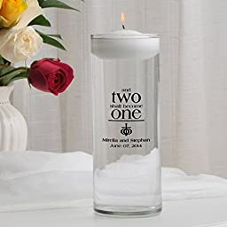 Personalized Floating Wedding Unity Candle- Epheslans