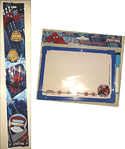 Spiderman SKYDIAMOND KITE Dry Erase Board Gift Travel Activity Set Poly Diamond