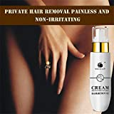 Whitening Painless Private Parts Underarm Hair Removal Cream,Outsta Depilatory Bubble No Pain Flawlessly Used on Body, Leg,Hand, Armpit, Pubic Hair Armpit Depilatory Paste (White)
