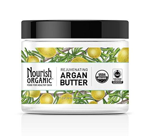 Nourish Organic Body Butter, Rejuvenating Argan Butter, 5.2 Ounce