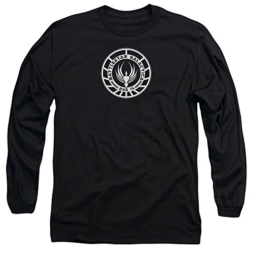 Cylon 6 Costume (Battlestar Galactica BSG 75 Badge Costume Sci Fi TV Adult Long Sleeve T-Shirt)