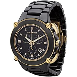 CALABRIA - Sottomarino Collection - CORRENTE- Hi-Tech Ceramic & Gold Chronograph Men's Watch