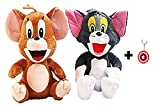 ToyJoy Tom and Jerry 20cm with key chain combo pack soft plush stuffed toys