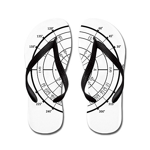 CafePress Math Geek Unit Circle - Flip Flops, Funny Thong Sandals, Beach Sandals Black