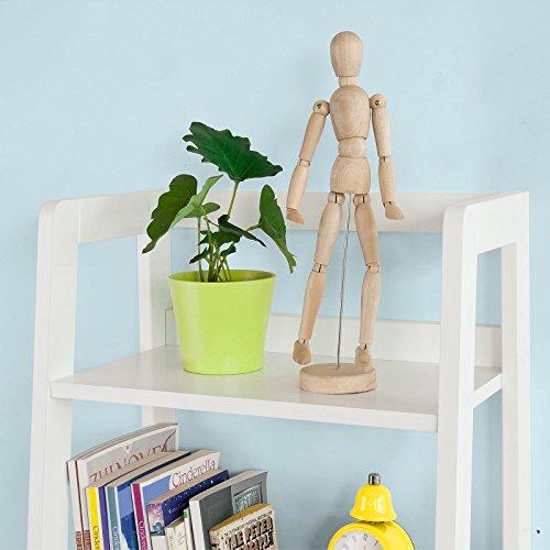 SoBuy Haotian Modern ladder bookcase made of wood, book shelf,stand shelf, wall shelf (FRG116-K-W) by SoBuy (Image #4)