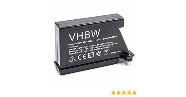 14.4V vhbw Bater/ía Li-Ion 2600mAh para robot limpiasuelos robot aut/ónomo de limpieza como LG EAC62218202