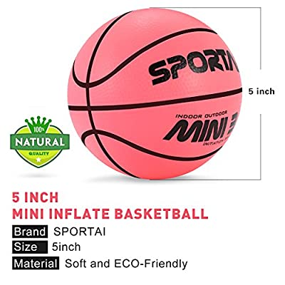 Sport AI Mini Basketball Toy for Kids- Small and Cute Bouncy Peach Ball for Toddlers, Safe and Soft to Handheld 5.5