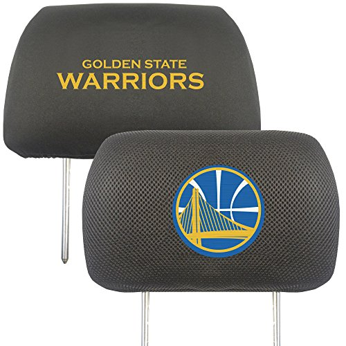"""FANMATS 20323 Team Color 10""""x13"""" NBA - Golden State Warriors Head Rest Cover"""
