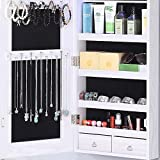 GISSAR Full Length Mirror Jewelry Cabinet, 6 LEDs