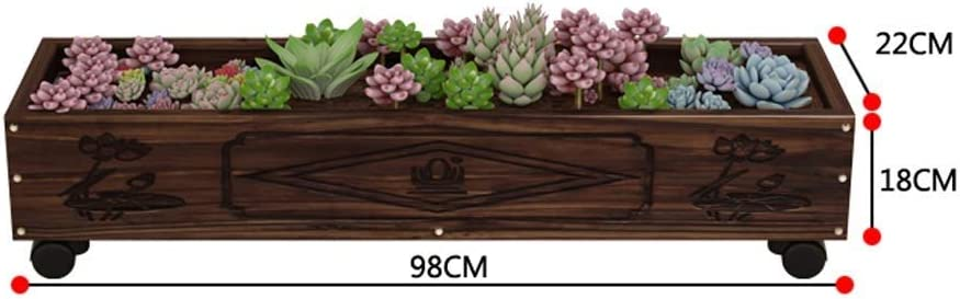 SHICHAO - Cama elevada de Madera para jardín, jardín, Plantas, Flores, Rectangular, Maceta, jardinería, hortalizas. (Tamaño : D): Amazon.es: Hogar