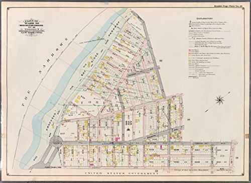 Historic 1898 Map | Double Page Plate No. 19: [Bounded by 92nd Street, Third Avenue, | Antique Vintage Map Reproduction
