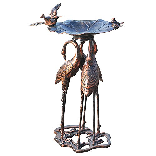 Aluminum & Steel Bird Bath