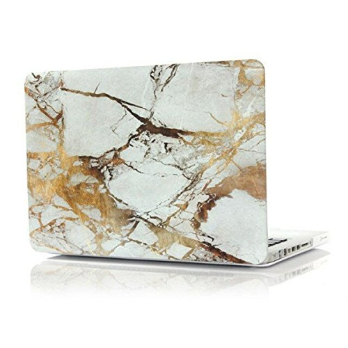 White-gold Marble Shell Laptop Case for Macbook Case Pro 15