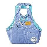 Baiyu Denim Pet Dog Sling Carrier Bag Portable Shoulder Bag Handbag Outdoor Travel Tote for Small Dogs Puppy Cats Animals Size 331753cm--Light Blue