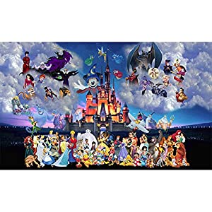 5D Diamond Painting Full Drill, Disneyland Cartoon DIY Diamond Painting by Number Kits, Rhinestone Crystal Drawing Gift…