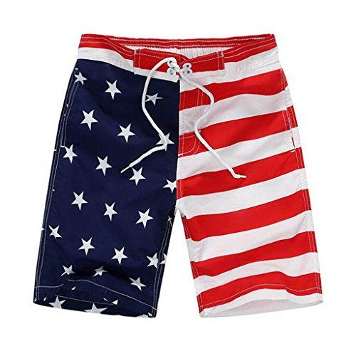 GETUBACK Big Boy Board Shorts Flag Design