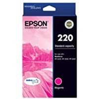 EPSON 220 Std Capacity DURABrite Ultra Magenta Ink(Epson Workforce WF-2630, WF-2650, WF-2660)