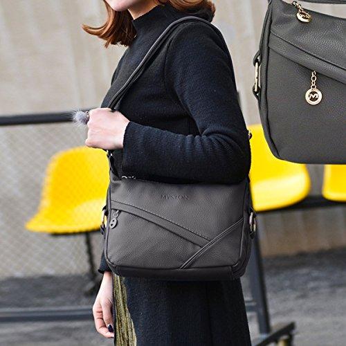 amp;DORIS Women Hobo Bag Shoulder Purse Handbags PU Satchel Leather Travel NICOLE Tote Crossbody Gray Bag dgZSdx