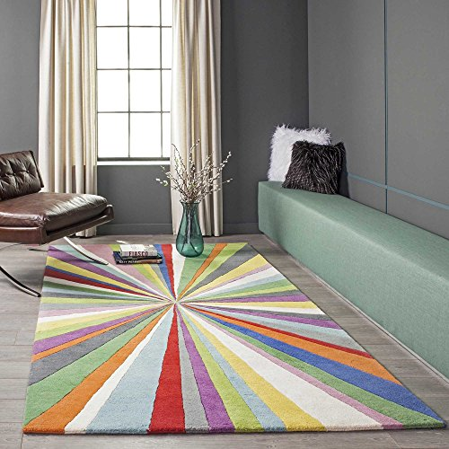 Momeni Rugs DELHIDL-62MTI5080 Delhi Collection 100% Wool Hand Carved & Hand Tufted Contemporary Area Rug, 5