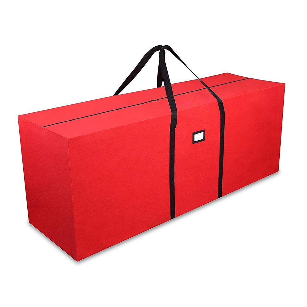 Primode Holiday Tree Storage Bag, Heavy Duty Storage Container, 25'' Height X 20'' Wide X 65'' Long (Red)