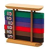 #9: Martial Arts Belt Display Free Standing Rack Stand for Karate Taekwondo Belts - 6 or 10 Level
