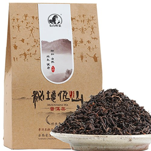 Washan Tea Natural Delicate Taste Ripe Chinese Puerh Tea 10 Years Aged Fermented Loose Leaf Puer Tea from Yunnan 200 Gram/7.05 Ounce