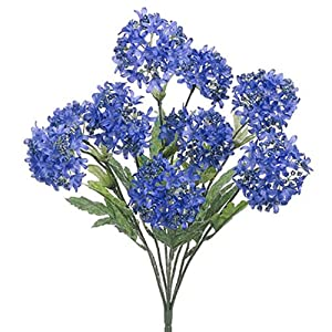 "18"" Silk Snowball Flower Bush -Blue/Helio (Pack of 12) 72"