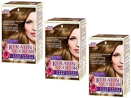 Schwarzkopf Keratin Color 8.0 Dark Blonde - Tinte para el ...