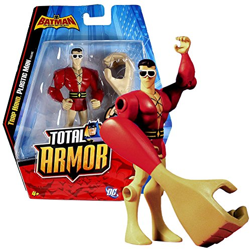Mattel Year 2010 DC Batman The Brave and The Bold Total Armor Series 5 Inch Tall Action Figure - PLASTIC MAN W1670 with with Trap Hand (Plastic Man Batman Brave And The Bold)
