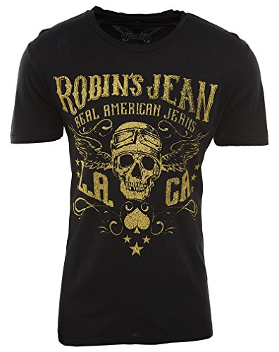 Robin's Jean Tshirt Mens Style : AAA487-BLACK Size : XXL by Robin's Jean