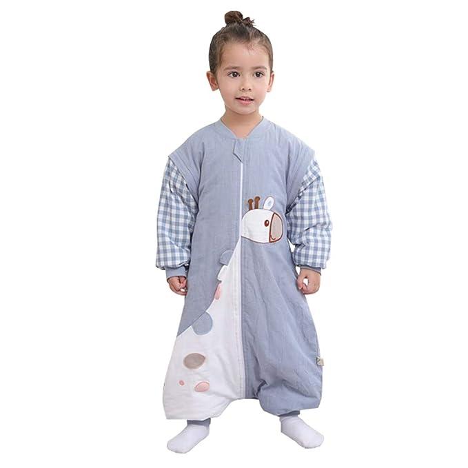 Amazon.com: JiAmy - Saco de dormir para bebé con pies, 2,5 ...