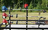 Lockable 3 Place Trimmer Rack for Open Trailers by Pack'em