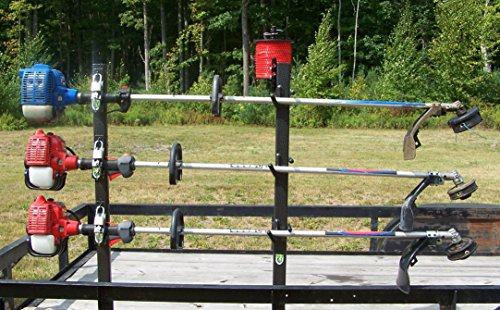 Open Trailer (Lockable 3 Place Trimmer Rack for Open Trailers by Pack'em)