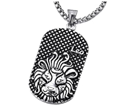 Bishilin Stainless Steel Silver Gold Tone Zodiac Taurus Pendant Necklaces 26 Inch for Mens Womens with Free Engraved Service