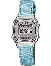 Casio Ladies Denim look leather band Blue watch Digital