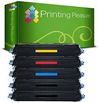 Printing Pleasure 5 Compatibles Cartuchos de tóner para HP Laserjet CM1015MFP CM1017MFP 1600 1600N 2600 2600N 2605 2605DN Canon i-SENSYS LBP5000 ...