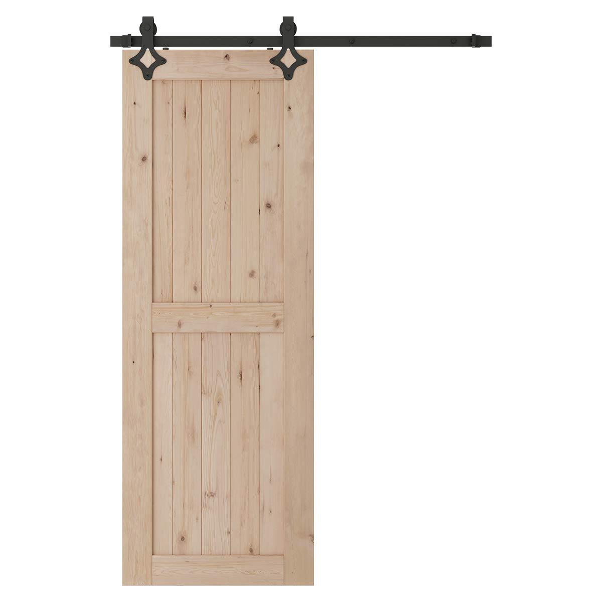 Black SMARTSTANDARD Sliding Barn Door Hardware Rollers 2PCS Big Industry Wheel Hangers
