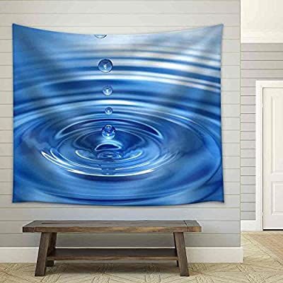 That You Will Love, Grand Picture, The Round Transparent Drop of Water Falls Downwards Fabric Wall