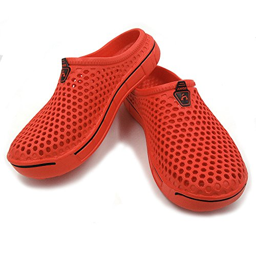 Clogs Garden Sandals Slippers Amoji Shoes Red Unisex Egxn1qw0
