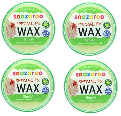 Snazaroo 4 X Special FX Wax Make Up Effects for Halloween 18ml -