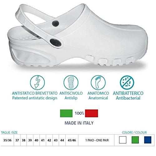 Clogs antistatischen 38 mit 160 Größe Einsatz Art einem Weiß BREATH Krankenhaus gd4twxOqO