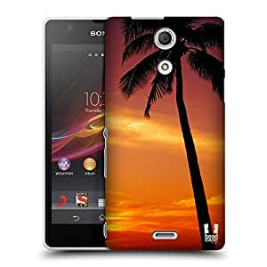 Head Case Designs Tropical Sunset Under the Red Sky Beautiful Beaches Hard Back Case Cover for Sony Xperia ZR