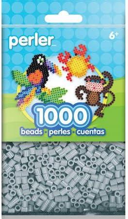 Pack of 1000 Perler PBB80-19-15181 Light Gray Perler Bead
