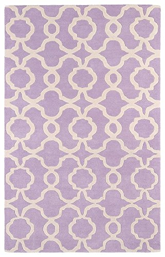 Kaleen Rugs Revolution Collection REV03-90 Lilac Hand Tufted 5' x 7'9